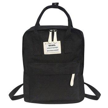 2020 New Fashion lady Student Canvas shoulder bag schoolbag bag Tour backpack bookbag  backpack women  small pink cute kawaii - Black