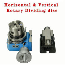 CNC horizontal vertical indexing table rotary table divider 4 6 inch 80mm 125MM 3 Jaw Lathe Chuck CNC Milling Head Tailstock