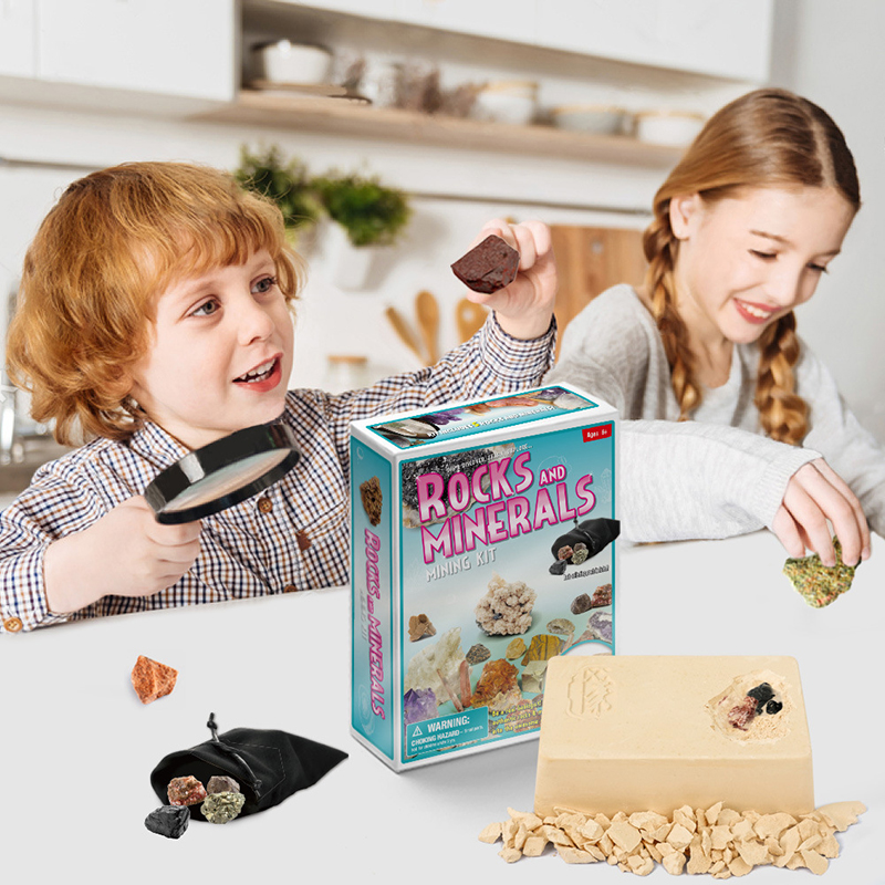 Crystal Mining Toys DIY Model Toy Kids Birthday Gift Digging Fossils Excavation Children Educational Toys Presents Free Delivery