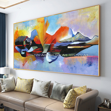 Dropshipping 100% Handpainted Lord Buddha Abstract Oil Painting on Canvas Cuadros wall painting Wall Art Picture For Living Room