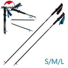1 pcs Folding Trekking Walking Hiking Stick high strength Carbon fiber Adjustable Anti-Shock Ultralight Pole