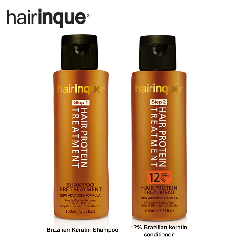1set Brazilian Keratin Hair Protein Treatment Purifying Shampoo And Conditioner For Frizzy Damage Hair Repair Hair Straighten