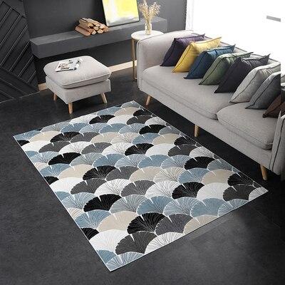 Ginkgo feuille tapis rectangulaire porte antidérapant décoration maison tapis de sol