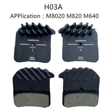 H01A Pads DEORE XT SAINT ZEE DEORE H03A H03C D03S D01S, aleta de refrigeración Ice Tech, pastilla de freno de montaña M8020 M820 M640
