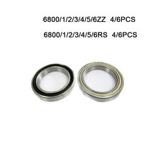 4/6Pcs 6800 6801 6802 6803 6804 6805 6806 2RS Rs Zz 2Z Rubber Verzegelde Staal Cover Diepe groef Kogellager Miniatuur Lager Goede