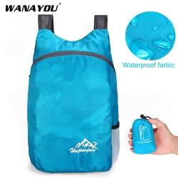 20L Foldable Waterproof Backpack, Men Women Ultralight Outdoor Folding Travel Daypack Bag, Sport Hiking Climbing Bag for Child