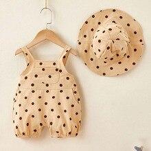 Romper Newborn Jumpsuit Clothing Toddler Girl Baby-Girl Cotton Summer Sleeveless Korean