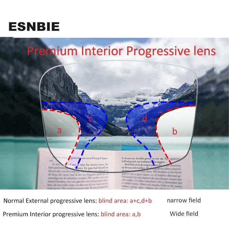 Premium Progressive Multifocal Glasses Reading Myopia For Men Prescription Lens Progressive Anti Radiation 1.56/1.61/1.67