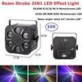 Диско стробоскоп светильник s 6 Eyes 70W светодиодный сценический светильник Dj эффект луч светильник 5X10W + 51X0 2 W RGB лазерный проектор для ночного ...