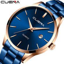 Zegarek hommes d'affaires montres acier inoxydable ceinture calendrier étanche montres mâle analogique Quartz horloge-bracelet Relojes para mujer