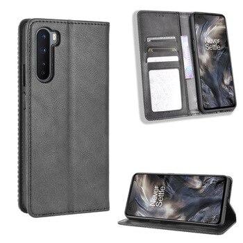 Per Oneplus Nord Retro Flip Cover per Coque Oneplus Nord N10 N100 8T 8 Pro custodia magnetica portafoglio custodia con porta carte