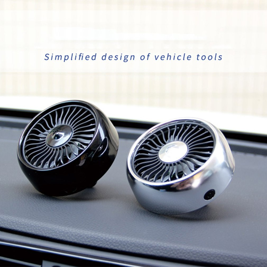 Electric Car Fan Multi-function Auto Cooling Air Circulator 360 Degree Rotatable for Van SUV RV Boat
