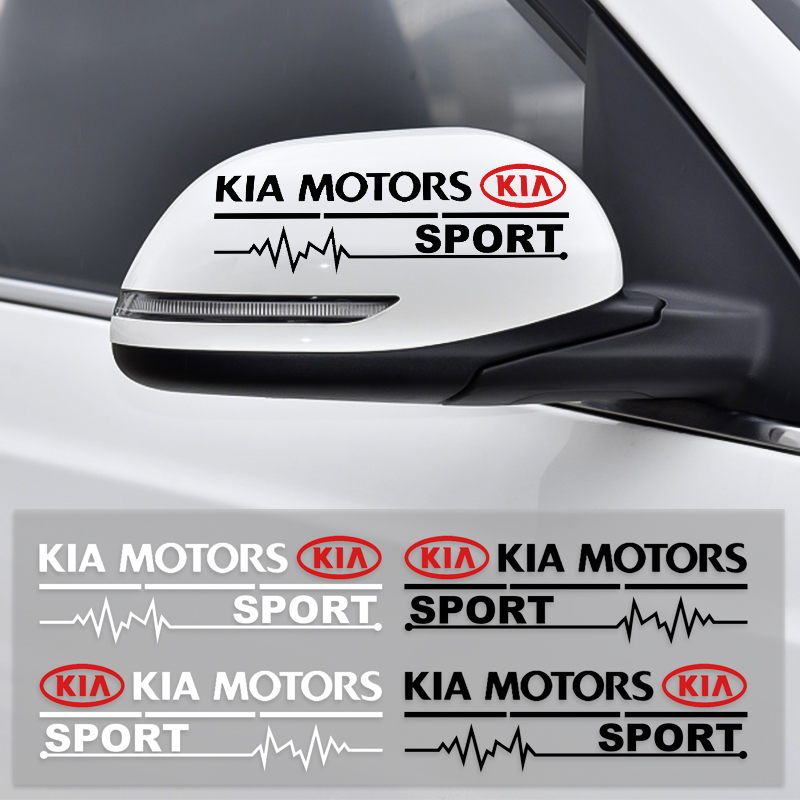 2Pcs Car Rearview Mirror Side Door Front Bumper Stickers Auto Body Styling For KIA Rio Ceed Sportage Sorento K2 K3 K4 K5 K6