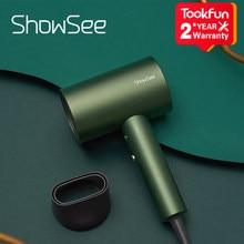 ShowSee-secador de pelo Nanoe de anión, cuidado del cabello, profesional, secado rápido, 1800W, portátil, difusor