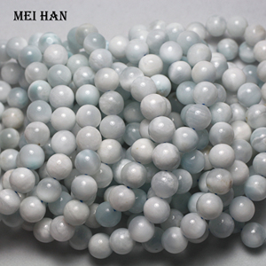 Image 3 - Wholesale 10 10.5mm (1 bracelet/set) natural cheap Dominica larimar bracelet for jewelry DIY making design