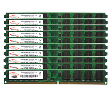 10PCS DDR2 2GB 667mhz Dimm brand new PC2 5300U Desktop 200-pin Memory RAM 1.8V Voltage