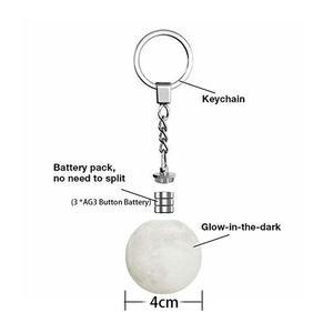 Портативный светодиодный светильник с 3D-принтом Луны, брелок, ночник, фара для рюкзака, Декор, креативные подарки, сумка, рюкзак, Декор, ночной Светильник