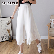 CHICEVER 2020 New Spring Autumn High Elastic Waist Loose Bla