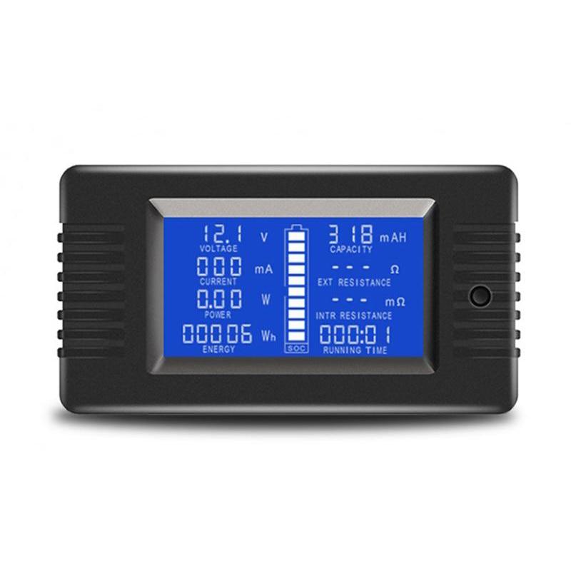 0 200V 300A Voltmeter Ammeter Digital Battery Tester Built In Shunt Capacity Resistance Electricity Voltage Meter Monitor|Voltage Meters| |  - title=