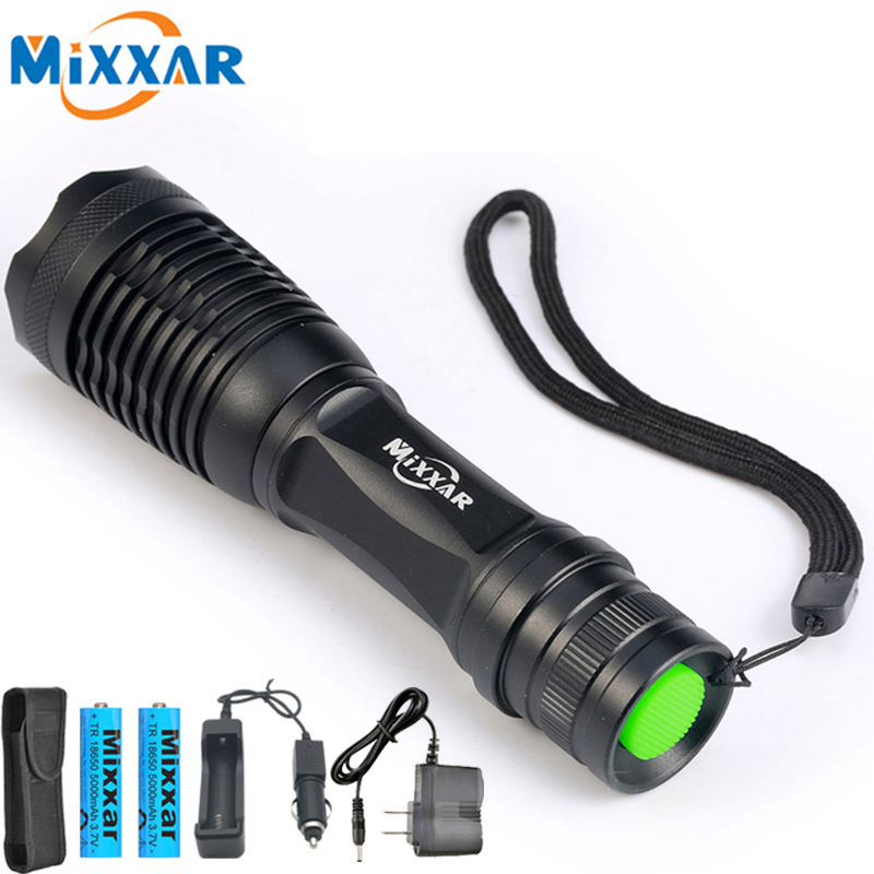 Mixxar Powerful LED Flashlight Torch T6 Waterproof 5 Mode Adjustable Rechargeable Lantern Lamp Bicycle Light Dropshipping