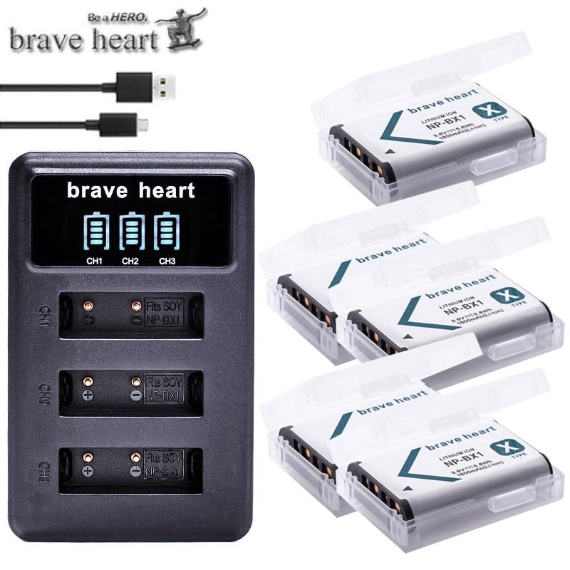 NPBX1 NP BX1 Bateria NP-BX1 Battery+ 3-Slots Charger For Sony DSC RX1 RX100 AS100V M3 M2 HX300 HX400 HX50 HX60 GWP88 AS15 WX350