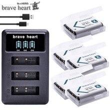 Bateria NP BX1 npbx1, bateria + carregador de 3 espaços para sony dsc rx1 rx100 as100v m3 m2 hx300 hx400 hx50 hx60 gwp88 as15 wx350
