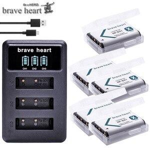 Image 1 - NPBX1 NP BX1 Bateria NP BX1 Battery+ 3 Slots Charger for Sony DSC RX1 RX100 AS100V M3 M2 HX300 HX400 HX50 HX60 GWP88 AS15 WX350