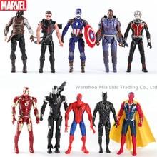 Hasbro Avengers 5pcs/set Iron Man Captain America Spider-Man Black Panther War Machine Winter Soldier Doll Model toys