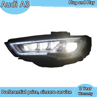 Car Styling Head Lamp for Audi A3 Headlights 2014 2016 S3 ALL LED Headlight DRL Accessories