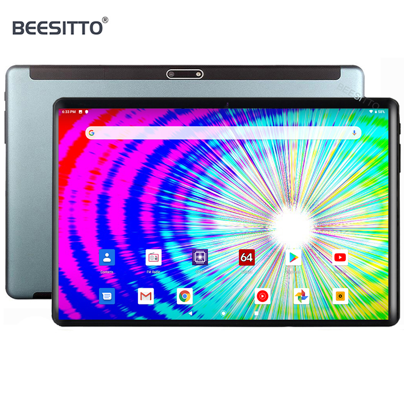 """Android Tablet 10 Inch with Sim Card Slots 32GB ROM 4 Core 3G Unlocked GSM Phone 10.1""""Tablet PC with WiFi Bluetooth GPS Netflix"""