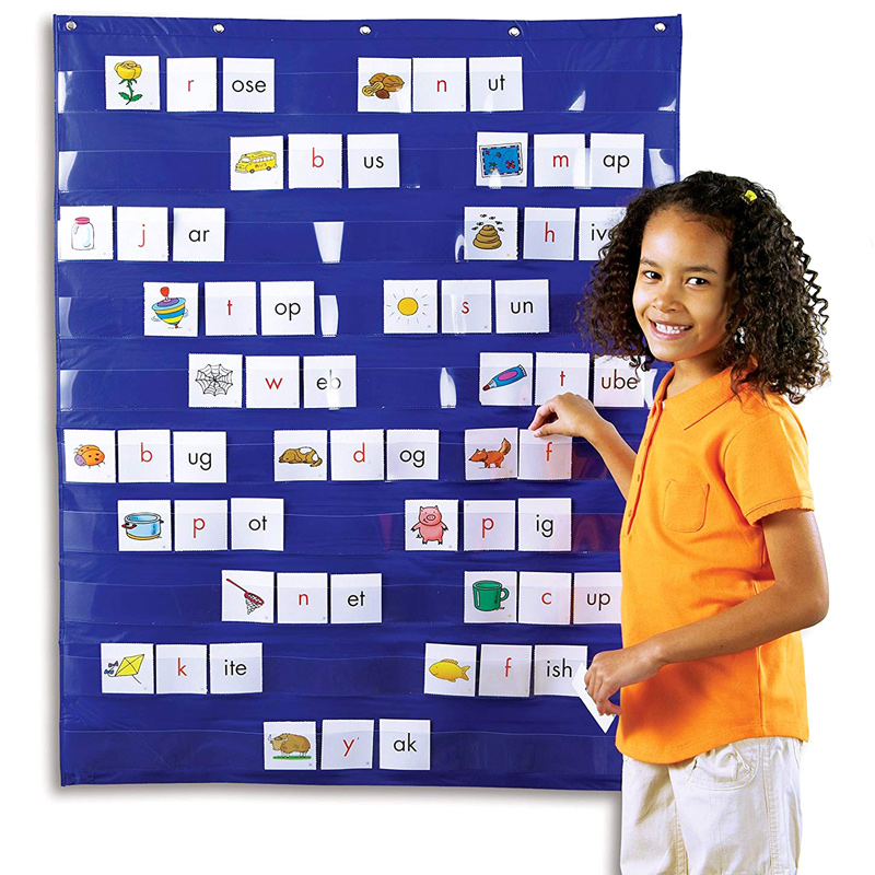 Standard Pocket Chart Education Learning Teaching for Home Scheduling Classroom 2021