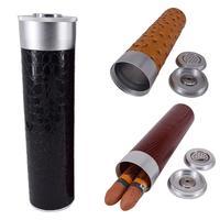 Caixas de armazenamento seladas impermeáveis dos cigarros do frasco da caixa do humidor dos charutos da prova da umidade do curso com higrômetro Acessórios para charuto     -