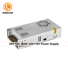 цена на SIMAX3D SIMAX 3D 110V/220V to DC 24V 15A  360W Power Supply Transformer Switching Adapter Converter Driver for 3D Printer