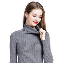 NORMOV High-necked Slim sweater woman Thicken warm Casual Solid Simple Autumn winter sweaters Comfortable Nylon knitting