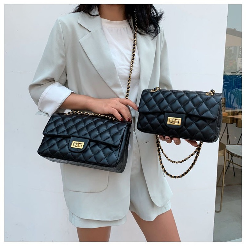 Women Handbag 2019 New Korean Fashion Casual Plaid Chain Shoulder Messenger Bag Famous Classic Brand Designer Crossbody Bag