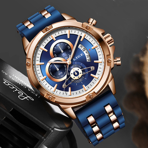 Image 5 - Relogio Masculino 2020 LIGE Fashion Mens Watches Top Brand Luxury Unique silicone Waterproof Wrist Watch Men Sport Quartz Clock