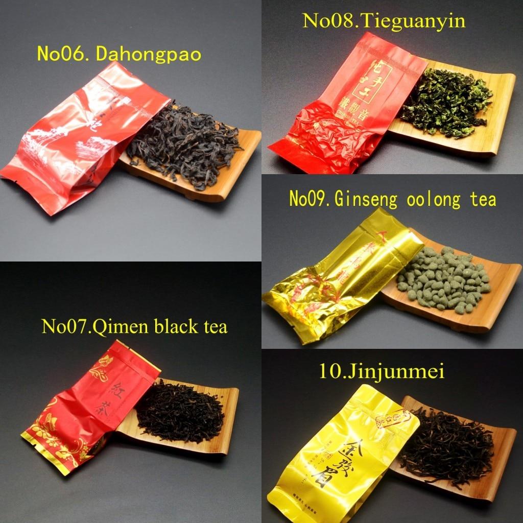 16 Different Flavors Chinese Tea Includes Milk Oolong Pu-erh Herbal Flower Black Green Tea 3