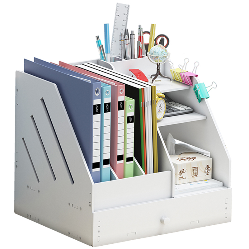 Multifunctional DIY Magazine Organizers Eco Friendly Magazine Rack File Box Books Organizers Multifunction File Cabinet Office
