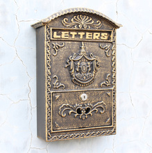 Cast Iron Mailbox Embossed Trim Decor Bronze Look Free Shipping Home Garden Decorative Wall Metal Mail Post Box Outdoor Crafts
