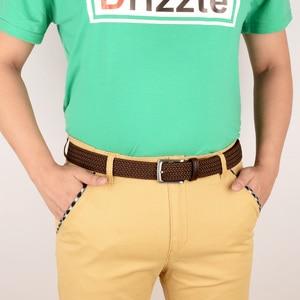 Image 4 - Drizzte Plus Size 130 150 160 170 180 190Cm Brown Braid Geweven Elastische Stretch Riem Heren Voor Grote En tall Man Hoge Kwaliteit