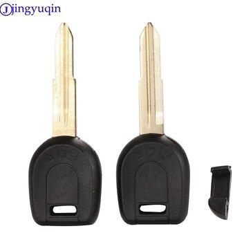 Jingyuqin transpondeur clé coquille pour MITSUBISHI Colt Outlander Mirage Pajero clé à distance pas de puce lame droite
