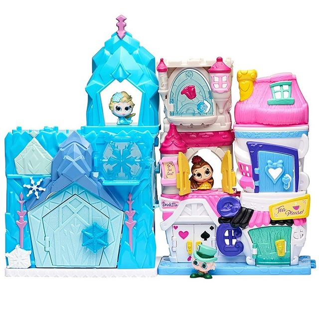 Disney Doorables Frozen Elsa Snow White Belle Princess Castle Luxury Fairytale House Q Dollhouse Kids Toys Girls Christmas Gift 3