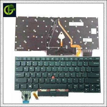 Neue Original UNS Englisch Beleuchtete Tastatur Für Lenovo Thinkpad X1 Carbon 7th Gen X1C 2019 Laptop Hintergrundbeleuchtung Teclado SN20R55563