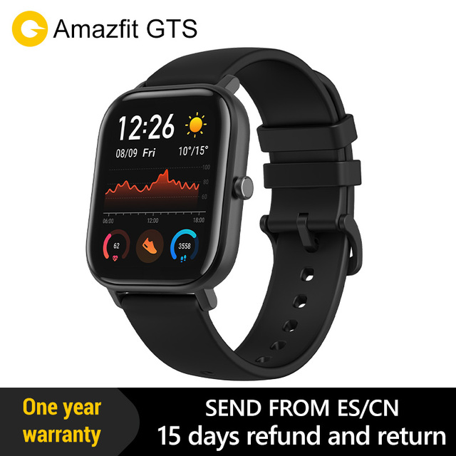Amazfit GTS הגלובלית גרסה חכם שעון smartwatch GPS ריצה ספורט קצב לב 5ATM עמיד למים צמיד AMOLED Amazfit
