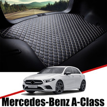 Para Mercedes Benz clase 2013 ~ 2020 cuero estera de maletero de coche alfombra cola de carga de almohadilla para botas A160 A180 A200 A220 2017 de 2018 A 2019