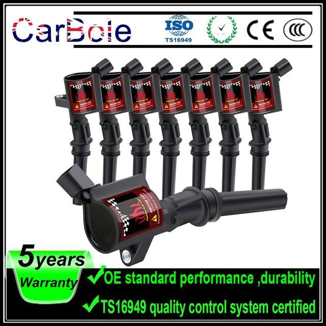 8 Uds bobinas de encendido para Ford Lincoln mercurio V8 V10 4.6L 5.4L C1454 DG508 A780X12300HA C409 C469 C471 D1FZ1