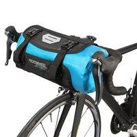 ROSWHEEL FIETSTAS Fietstas Dry Bag Waterdichte Fietsen Mountain Road MTB Bike Front Frame Stuur met Roll Top Sluiting 3L 7L-in Fietstassen van sport & Entertainment op