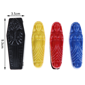 a small coffin and three plastic mummies Prediction EgyptianPlastic Mummy Mystery Box Close Up Magic Props Magic Tricks Toy image