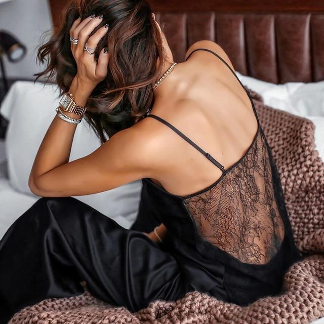 Backless Satin Sexy Pajamas 4