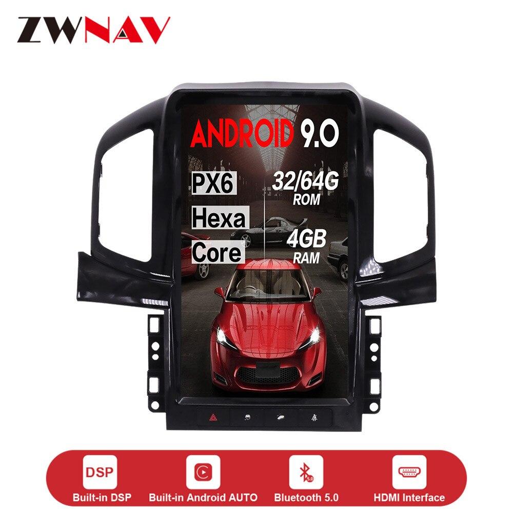 13,6 ''вертикальный экран Tesla стиль Android 9,0 Авто DVD Мультимедиа GPS плеер для Chevrolet Captiva 2013-2017 PX6 головное устройство